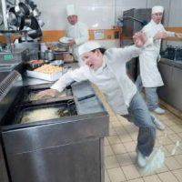 restaurant emp falling